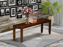 East West Furniture LYB-ESP-W Dining Bench with Wood Seat, E