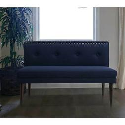 Madison Nailhead Tufted Accent Settee Bench by Sandy Wilson