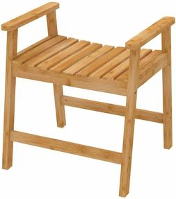 Medical Spa Storage Teak Shower Bench Bamboo Safety Bath Cha