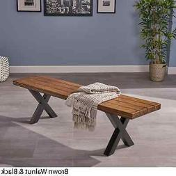 Mitzy Light-Weight Concrete Picnic Dining Bench by Walnut