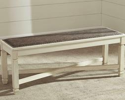 Modern Wooden Farmhouse Dining Room Bench White Entryway Hal