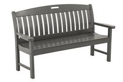"""POLYWOOD Nautical 60 inch Bench NB60GY Bench 25.00""""D x 63.75"""