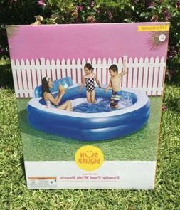 New Above Ground Pool with Bench Sun Squad 7.5 ft Inflatable