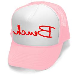 New Bench Trucker Hat Pink/White Workout Fitness Gym Bodybui
