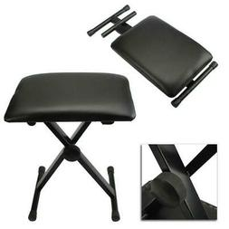 New Folding Piano Keyboard Bench Padded Stool X Seat Chair A