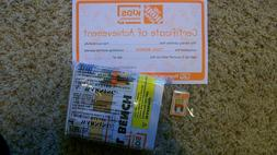 New Home Depot Kids Workshop Tool Bench Set with Pin and Cer