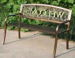 NEW Welcome Outdoor Garden Bench Park Lawn Patio Furniture B