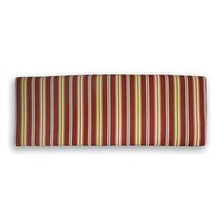Outdoor Bench Cushion Red Stripe Seat Pad Settee 46.50 H x 1