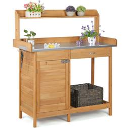 Outdoor Garden Potting Bench Table Planting Work Benches Cab
