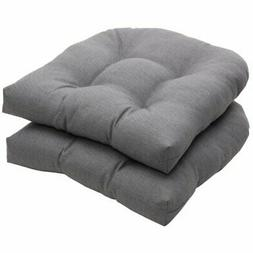 Pillow Perfect Outdoor Indoor Rave Graphite Tufted Bench Swi