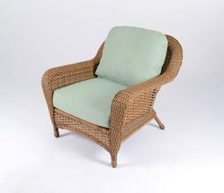 Outdoor Light Brown Wicker Chair with Cushions