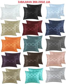 CaliTime Pack of 2 Cushion Covers Throw Pillow Covers Cases
