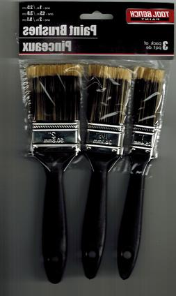 Tool Bench Paint Brushes - Plastic Handles NEW Set of 3 - Fr