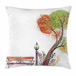 Park Bench Throw Pillow Cases Cushion Covers Home Decor 8 Si