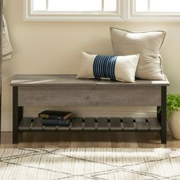 Manor Park Modern Farmhouse functional Storage Bench with Sh