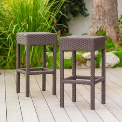 Rudolfo 28-Inch Outdoor Backless Bar Stools
