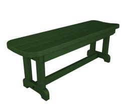 POLYWOOD PBB48GR Park Backless Outdoor Bench