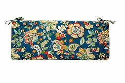 Peacock Blue Floral Paisley Cushion for Bench ~Swing ~Glider