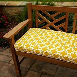 Penelope Yellow 60-inch Outdoor Bench Cushion Yellow