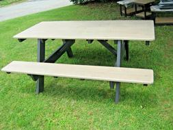 AMISH MADE POLY WOOD - Outdoor Picnic Table - CUSTOMIZABLE -