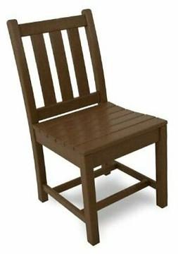 POLYWOOD TGD100TE Traditional Garden Dining Side Chair, Teak