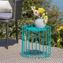 Great Deal Furniture Pony Outdoor 16 Inch Matte Teal Finish