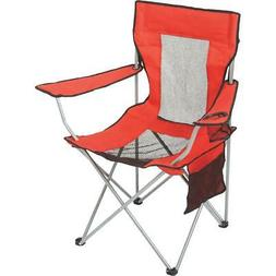 Outdoor Expressions Red Polyester Mesh Folding Chair AC2315N