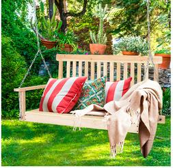 Relaxing Hanging Seat Porch Swing 2 Person Comforable w/Arm