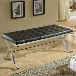 ACME Furniture Royce Bench in Black and Chrome