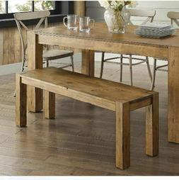 Rustic Dining Table Bench Seat Farmhouse Solid Wood Benches