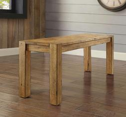 Rustic Farmhouse Bench Dining Kitchen Entryway Stool Distres