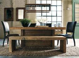 Rustic Farmhouse Dining Bench Reclaimed Wood Distressed Kitc