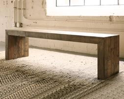 Rustic Farmhouse Dining Room Bench Reclaimed Wood Kitchen Se