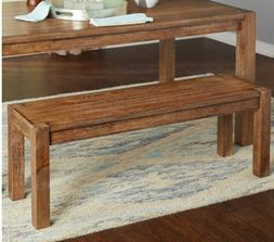 Rustic Farmhouse Kitchen Dining Bench Seat Hall Entryway Nat