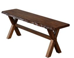 Rustic Kitchen Dining Bench Seat Hall Entryway Solid Wood Wa