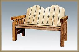 Rustic Outdoor Benches Farmhouse Style Deck Bench Amish made