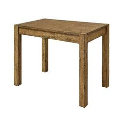 Rustic Wood Farmhouse Dining Table Vintage White Metal Chair