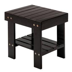 Small Bamboo Step Stool Shoe Bench Multi-functional Wooden K