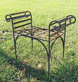 Small King's Bench Solid Metal Furniture Outdoor or Indoor S