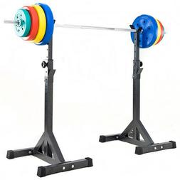 Split Type Weight Bench Squat Rack Barbell Stand-Supporting