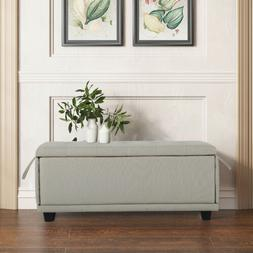Storage Bench Ottoman With Storage Fabric Large Storage Ches