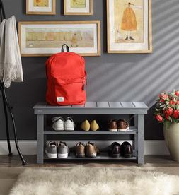 Storage Bench Shoes Shelves Entryway Bedroom Utility Mudroom