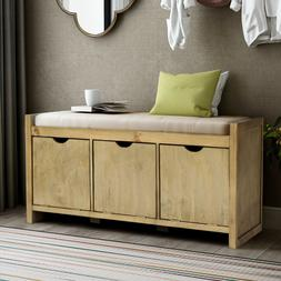 storage bench with removale cushion and 3