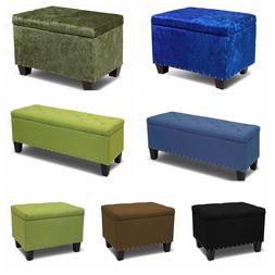 Storage Ottoman Bench Tufted Footrest Lift Top Pouffe Ottoma
