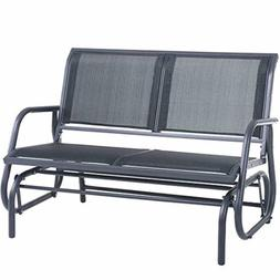 SUPERJARE Outdoor Swing Glider Chair, Patio Bench for 2 Pers