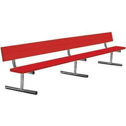 Sport Supply Group Surface Mount Bench with Back-7.5 Feet Si