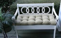 Outdoor Tan Solid Tufted Cushion for Bench~Swing~Glider, Cho