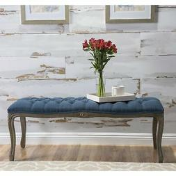 Tassia Tufted Fabric Ottoman Bench by Christopher Knight