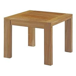 Upland Outdoor Patio Wood Side Table in Natural