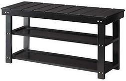 Utility Mudroom Bench with Storage Shoe Shelves- Entryway, O
